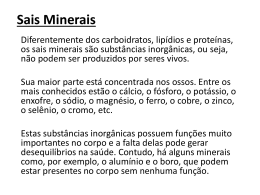 Sais Minerais - Universidade Castelo Branco