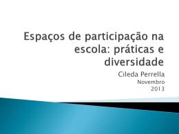 Espaços de participação na escola: práticas e diversidade