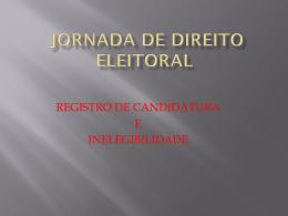 palestra jornada de direito eleitoral