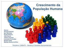 Crescimento da População Humana