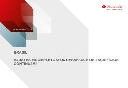 Apresentação Financeira Santander