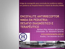 Encefalite antirreceptor N-metil-D