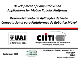 Development of Computer Vision Applications for Mobile Robotic