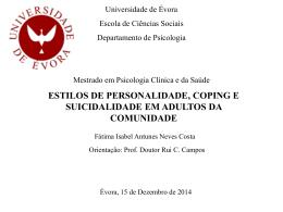 Defesa TESE - Universidade de Évora