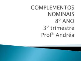 Complementos nominais