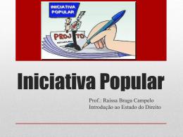 Iniciativa Popular - Direito 1305