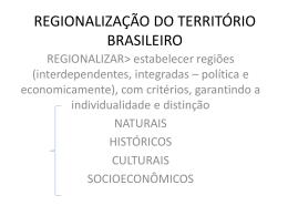 REGIONALIZAÇÃO DO TERRITÓRIO BRASILEIRO2 111