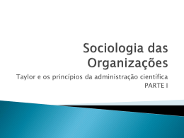 Sociologia das Organizações - Jornalismo