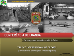 TRÁFICO INTERNACIONAL DE DROGAS