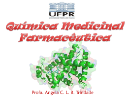 Química Medicinal Farmacêutica Aula inicial 2015 1