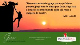 Minuto da graça – slide 24/07