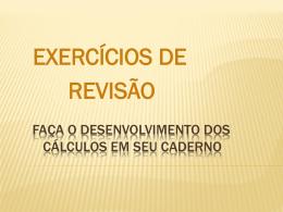 Exercícios de Revisão