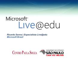 Apresentação do Live@Edu