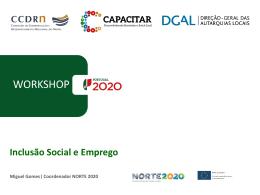"""Apresentação """"Inclusão Social e Emprego"""" - CCDR-N"""