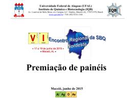 Premiação Banners - VI SBQ