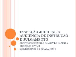 AULA 13 -INSPECAO JUDICIAL E AUDIENCIA DE