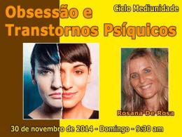 Obsessão e Transtornos Psíquicos (RosanaDR)