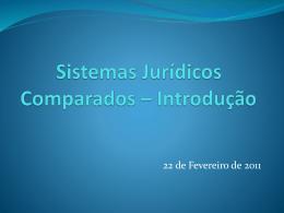Sistemas Jurídicos Comparados