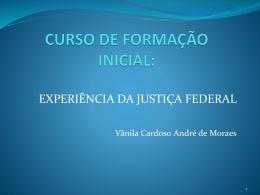Curso De Formação De Juízes Federais Substitutos – TRF1