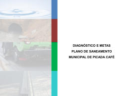 Diagnóstico e metas do Plano de Saneamento Municipal