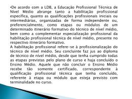 4-Formas de oferta da Educação Profissional