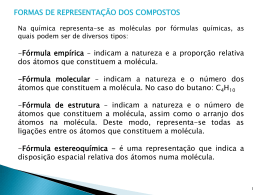 Fórmulas químicas e Isómeros