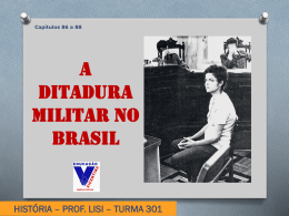 A ditadura militar no Brasil