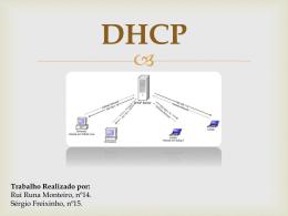 DHCP - Rui Monteiro & Sérgio Freixinho