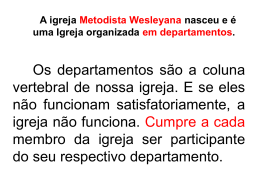funcionamento do departamento