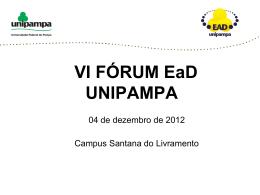 VI FÓRUM EaD UNIPAMPA