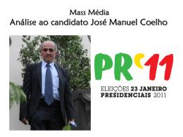 José Manuel Coelho (candidato do PND).
