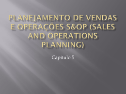 Planejamento de vendas e operações s&op (sales and operations