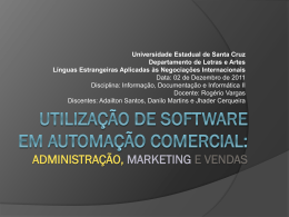 Utilização de software em automação comercial