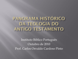 Panorama Histórico da Teologia do Antigo