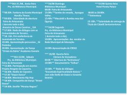 programação semana cultural 2015
