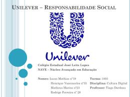 Unilever – Responsabilidade Social