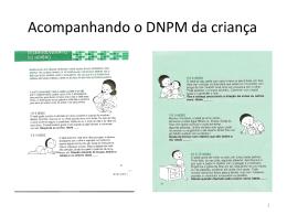 Acompanhando o DNPM da criança