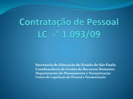 Contratação de pessoal LC N° 1.093/09 - Osasco