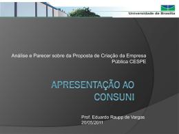 Relatoria CESPE - Universidade de Brasília
