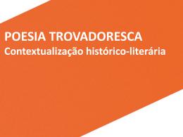 Contextualização histórico-literária