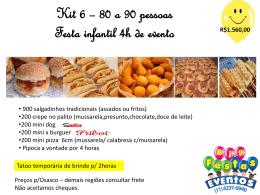 Kit 6 festa infantil 80 a 90 pessoas