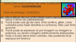 Instruções para painel da SOLIDARIEDADE