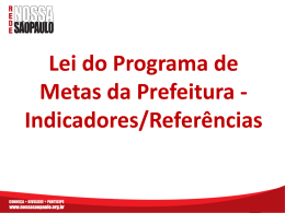 Lei do Programa de Metas