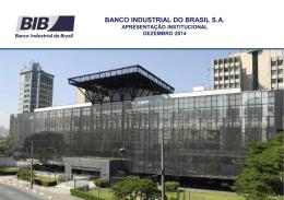 carteira de crédito - Banco Industrial do Brasil
