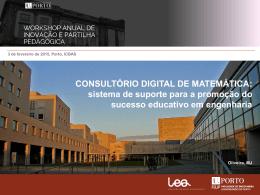 Apresentação de Manuel Joaquim Oliveira (FEUP)