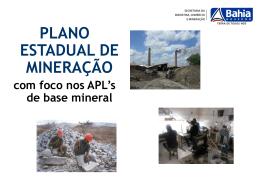 Plano Estadual de Mineração do Estado da Bahia