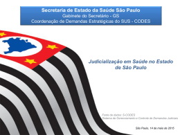 Judicialização em Saúde no Estado de São Paulo