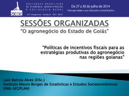 O agronegócio do Estado de Goiás