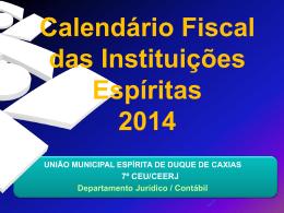 Calendário Fiscal para 2014