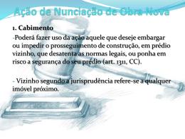 Ação de Nunciação de Obra Nova